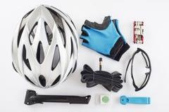 Substituições e ferramentas dos artigos para um ciclismo seguro Fotos de Stock Royalty Free