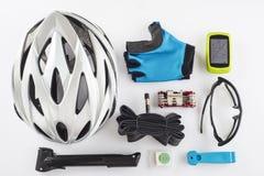 Substituições e ferramentas dos artigos para um ciclismo seguro Imagem de Stock