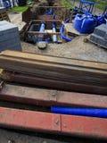 Substituindo o cano principal de água Fotografia de Stock