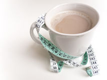Substitute Coffee with Tape Measure Royalty Free Stock Images