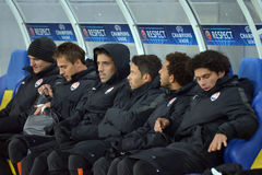 Substitute players of Shakhtar Royalty Free Stock Image