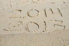 2013 substituyen 2014. Foto de archivo libre de regalías