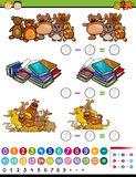 Substraction game cartoon illustration Stock Photography