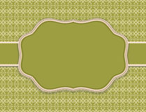 Substrate pattern background olive card Royalty Free Stock Photography