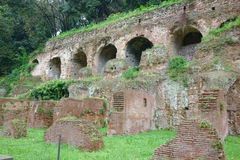 Substructures and insula, ancient Roman residence Royalty Free Stock Photos