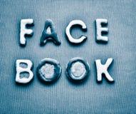 Subtítulo dos biscoitos de Facebook da sarja de Nimes Imagem de Stock Royalty Free
