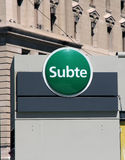 Subte Sign Royalty Free Stock Image