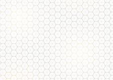 Subtelny Geometryczny Złoty linia wzór ilustracja wektor