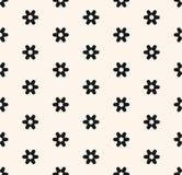 Subtelny minimalny bezszwowy wzór z małymi geometrycznymi kwiatami, płatek śniegu, gwiazdy ilustracji
