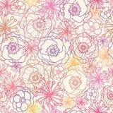 Subtelny pole kwitnie bezszwowego deseniowego tło Fotografia Stock