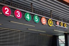 Subterráneo de Brooklyn NY fotografía de archivo libre de regalías