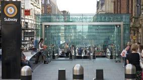Subterráneo de la calle de Buchanan, Glasgow Imagenes de archivo