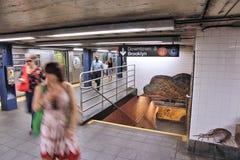 Subterráneo de New York City Fotografía de archivo