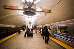 Subterráneo de New York City Imágenes de archivo libres de regalías
