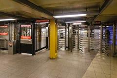 Subterráneo de New York City Fotografía de archivo libre de regalías