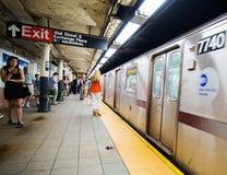 Subterráneo de New York City fotos de archivo libres de regalías