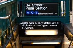 Subterráneo de Nueva York Imagenes de archivo