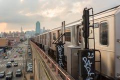 Subterráneo de Nueva York Fotos de archivo libres de regalías