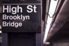 Subterráneo de NYC Foto de archivo libre de regalías
