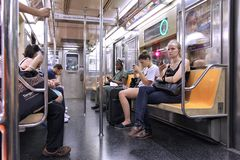 Subterráneo de NYC Fotografía de archivo