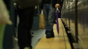 Subterráneo de NYC que llega almacen de video