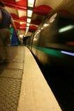 Subterráneo de París - falta de definición de movimiento foto de archivo libre de regalías