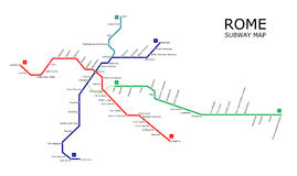 Subterráneo de Roma foto de archivo