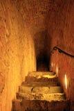 Subterráneo en el castillo de Varsovia imagen de archivo