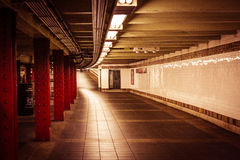 ¡Subterráneo en New York City!!! Tan futurista Fotografía de archivo