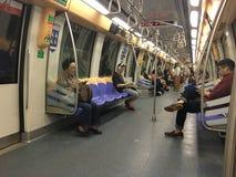 Subterráneo en Singapur Fotografía de archivo libre de regalías