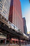 Subterráneo entre rascacielos Foto de archivo