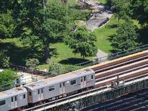 Subterráneo escénico de NYC foto de archivo