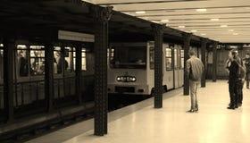 Subterráneo histórico que llega Imágenes de archivo libres de regalías