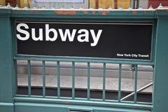 Subterráneo, New York City fotografía de archivo