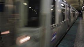 Subterráneo 1080p del ` s Blue Line de Chicago almacen de video