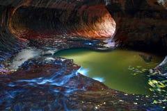 Subterráneo, parque nacional de Zion fotografía de archivo