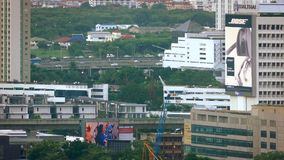 Subterráneo y carretera en Bangkok central metrajes