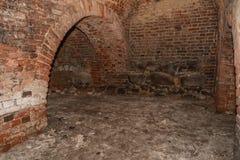 Subterrâneo em um castelo medieval Foto de Stock Royalty Free