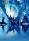 Subterranean Castles wax painting Stock Photo