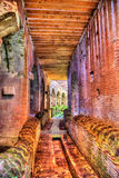 Subterranean passage beneath the arena of the Capua Amphitheatre. Italy Stock Photography