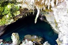Top view of a Subterranean River Royalty Free Stock Images