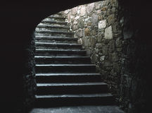 Subterranean Stairway. A stairway leads up out of a subterranean street in Guanajuato, Mexico stock images