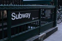 Subterráneo - NYC Imagen de archivo libre de regalías