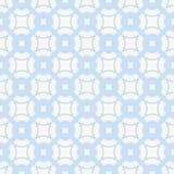 Subtiel geometrisch patroon in blauwe en witte kleuren Gebogen vormen, net, rooster royalty-vrije illustratie