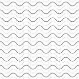 Subtiel naadloos patroon, gestippelde golvende lijnen royalty-vrije illustratie