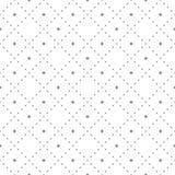 Subtiel naadloos patroon met uiterst kleine stervormen in vierkant net vector illustratie