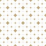 Subtiel wit en gouden vector naadloos patroon met diamantvormen royalty-vrije illustratie