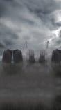 Subtiele Begraafplaats vector illustratie