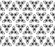 Subtiele geometrische textuur, zwart-wit sneeuwvlokcijfers Royalty-vrije Stock Foto