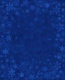 Subtiele Sneeuw op Blauw Royalty-vrije Stock Afbeelding